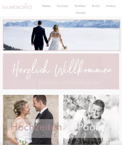 Webdesign Fotografen Website