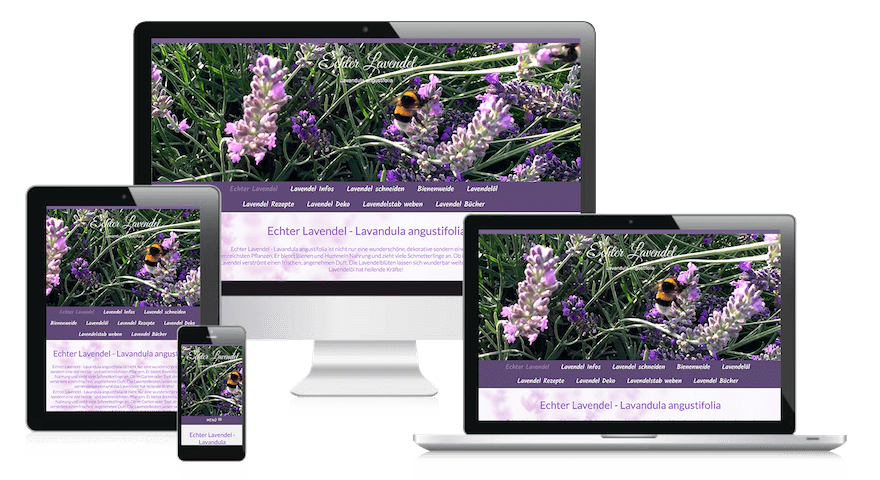 Webdesign Berlin-Brandenburg Referenz Lavendel