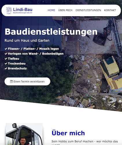 Webdesign Bauleistungen-Website